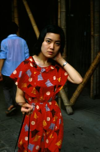 Woman in Red Dress, Shanghai, 1985